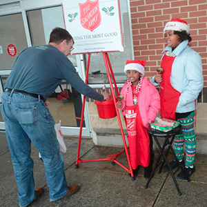 H.O. Brittingham Elementary School Students Ring Bell for Salvation Army