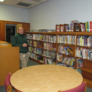 Lenny Richardson said many books have already been moved to shelves in the old HOB Library