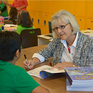 Love Creek Students Visit with Local Author