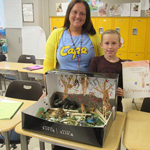 Love Creek Elementary Students Create Book Presentations