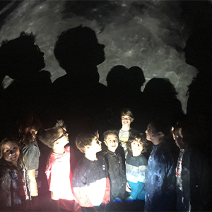 Fifth Graders Experience a Star Lab Planetarium