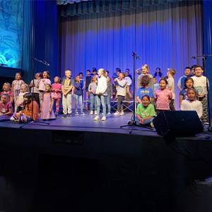 Milton Elementary FAME students sang in a performance at the Milton Theatre Oct. 23.