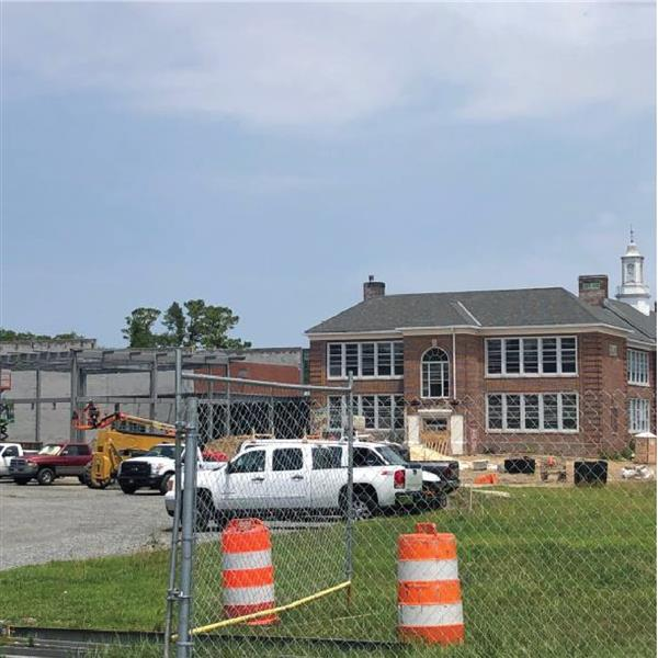 Milton Elementary renovation began Fall 2019 and is set to finish Fall 2021.