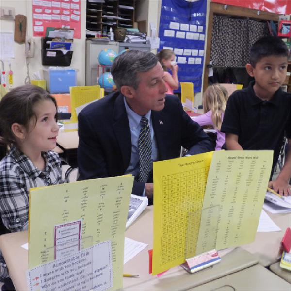 Carney Visits Rehoboth Elementary