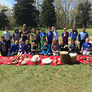 Students learned about the region's Native American culture.