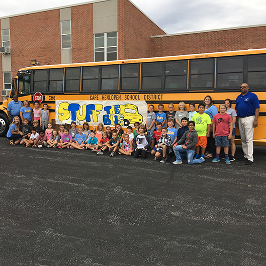 "Shields Students ""Stuff the Bus"" for Hurricane Harvey and Irma Victims"