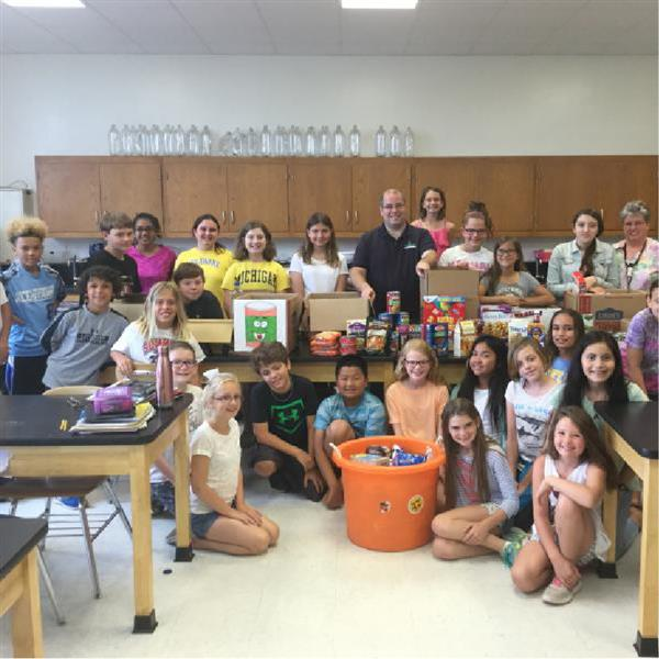 Shields Fifth Graders Hold Food Drive