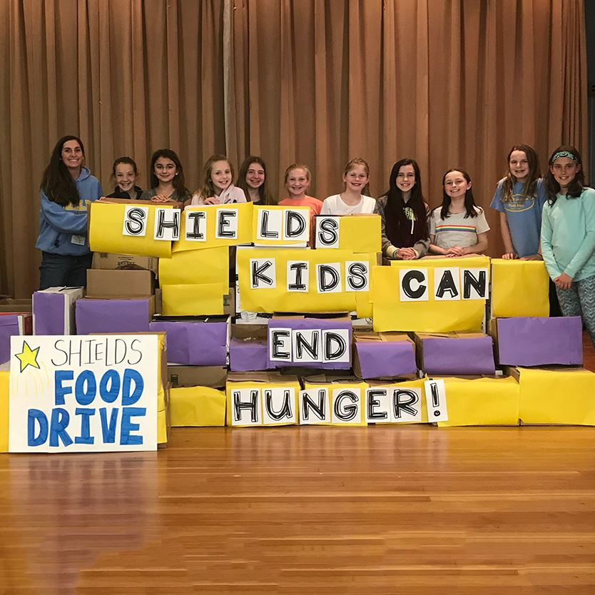 Shields' Students Donate More than 1,000 Pounds of Food