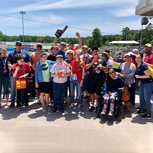 Consortium students take in a Salisbury Shorebirds game.