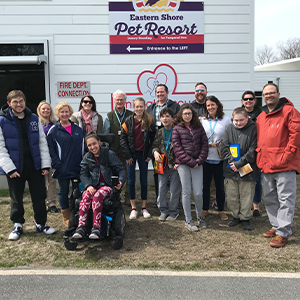 Sussex Consortium students and staff at the Brandywine Valley SPCA Animal Rescue Center