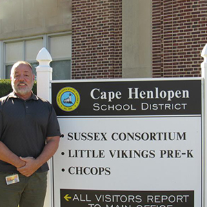 Retired Cape High school resource officer Tim Wolansky is now a paraprofessional at the Consortium.