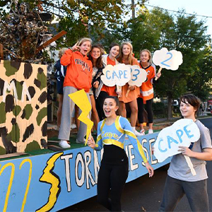 The sophomore float Storm the Seahawks took top honors in the float contest.