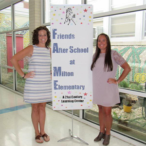 Kacie Goins and Brittany Bailey, coordinators of the FAME Program