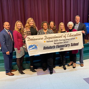 Rehoboth Elementary received national recognition for gains in bridging the achievement gap.