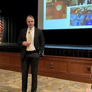 Superintendent Bob Fulton detailed accomplishments and challenges of the district.