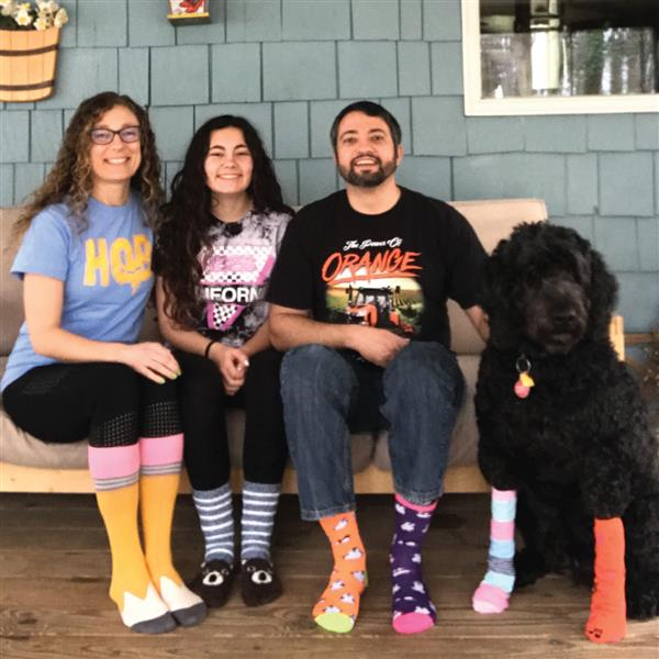The Minto Family rock's their socks for World Down Syndrome Day