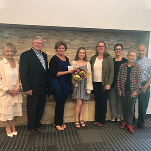 Isabella Leishear receives the Christopher J. Smail Memorial Scholarship.