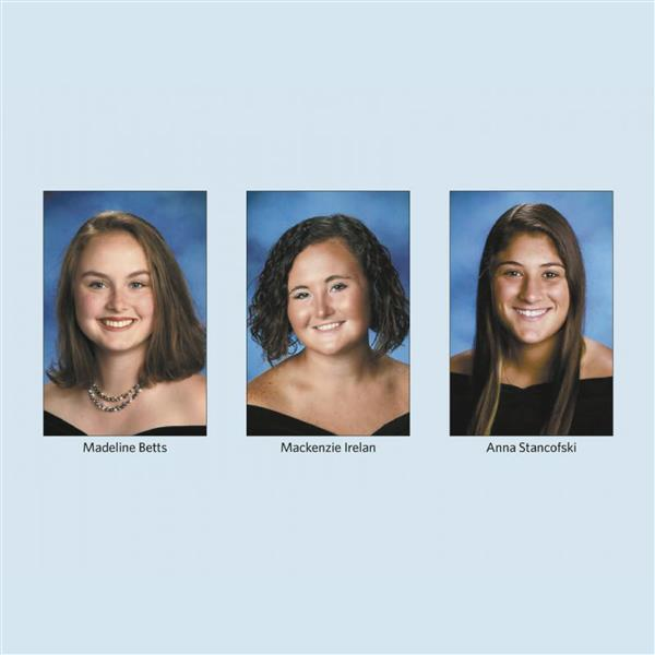 Betts, Irelan, Stancofski among top students in state