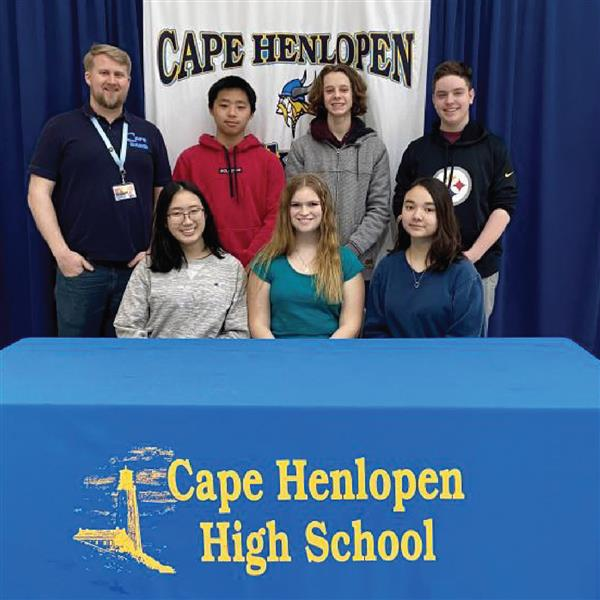 Cape High's freshman math league team team winning top honors in the county.