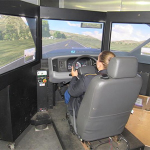 Cape High driver education students tested the Safety SIMulator.