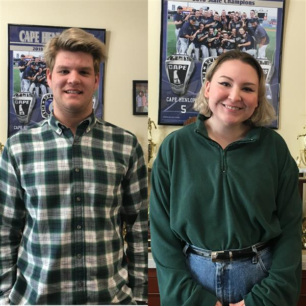 Thomas Weeks and Ruby Dillard were selected as the February Upstanding Students.