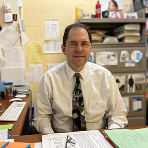 Cape High counselor Joel Simon is the only Delaware counselor to be recognized by the College Board