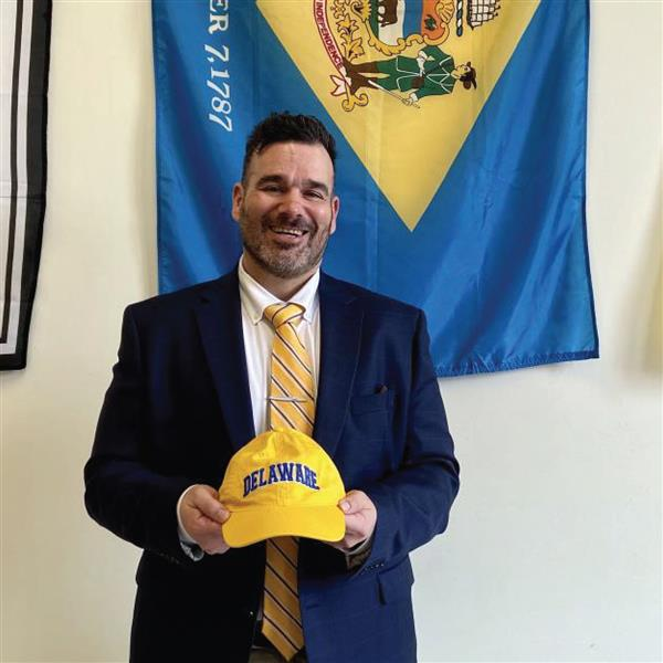 Cape High social studies teacher Kristian Schmidt will trade Cape colors for University of Delaware