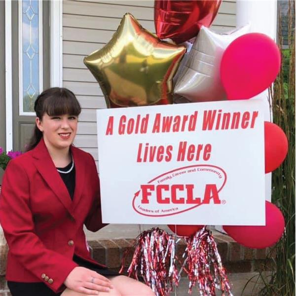 Cape High rising senior Ashlyn Moore won a gold medal in the national competition FCCLA competition
