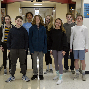 Eighth Grade Math League competitors