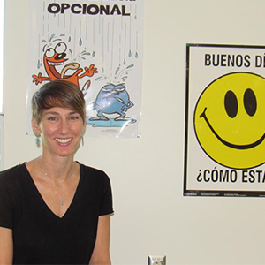 Julia Seufert is Beacon Middle School's first Spanish teacher.